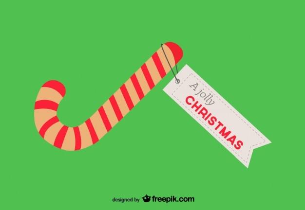 Kerstkaart met snoepgoed