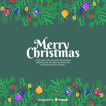 Kerstkaarten en ballen achtergrond sjabloon