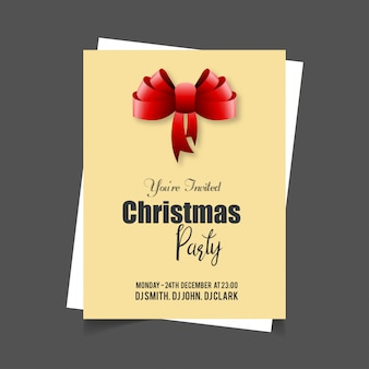 Kerstkaartontwerp met elegant ontwerp en creatieve achtergrond