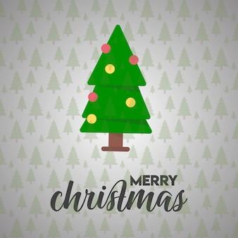 Kerstkaartontwerp met elegant ontwerp en lichte vector als achtergrond