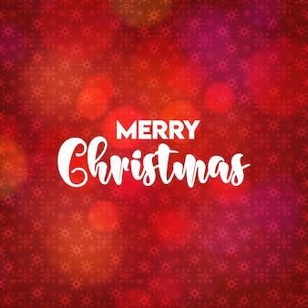 Kerstkaartontwerp met elegant ontwerp en rode vector als achtergrond