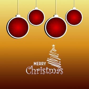Kerstkaartontwerp met elegant ontwerp
