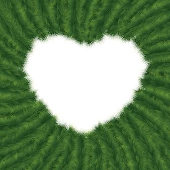 Kerstkader in vorm van hart.