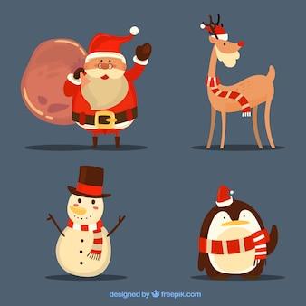 Kerstkarakters met originele stijl