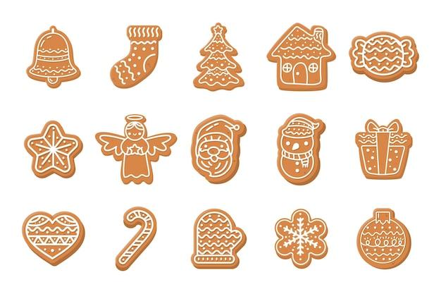 Kerstkoekjes. zoet brood voor kinderen met kerstmis