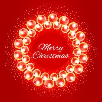Kerstkrans van lichtjes en glitters met een wens voor je creativiteit