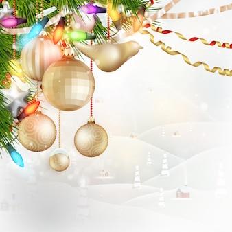 Kerstlandschap achter glas