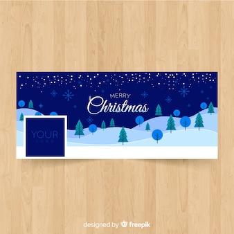 Kerstlandschap facebook ontwerp