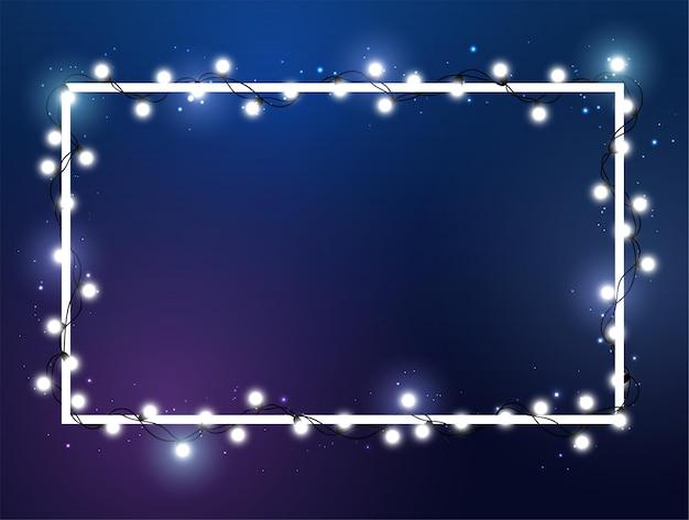 Kerstlicht. heldere kleur slinger. decor voor feest, feestelijk of verjaardagsfeest.