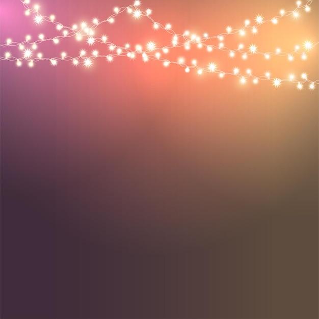 Kerstlicht. heldere kleur slinger. decor voor feest, feestelijke of verjaardagsviering.
