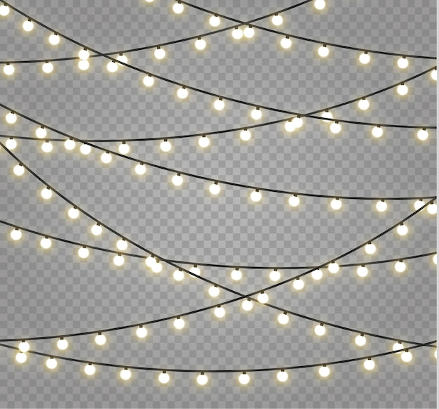 Kerstlichten . xmas gloeiende slinger.