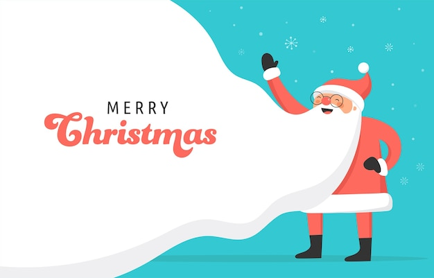 Kerstman conceptontwerp voor billboard, banner.