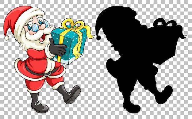 Kerstman die het geschenk overhandigt