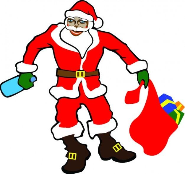 Kerstman drunked
