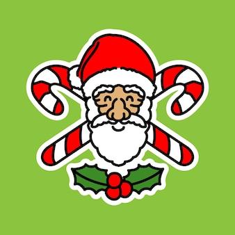 Kerstman en cross candy