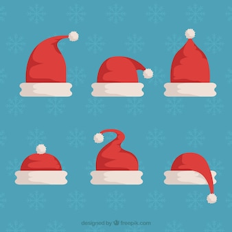 Kerstman hoed in plat ontwerp