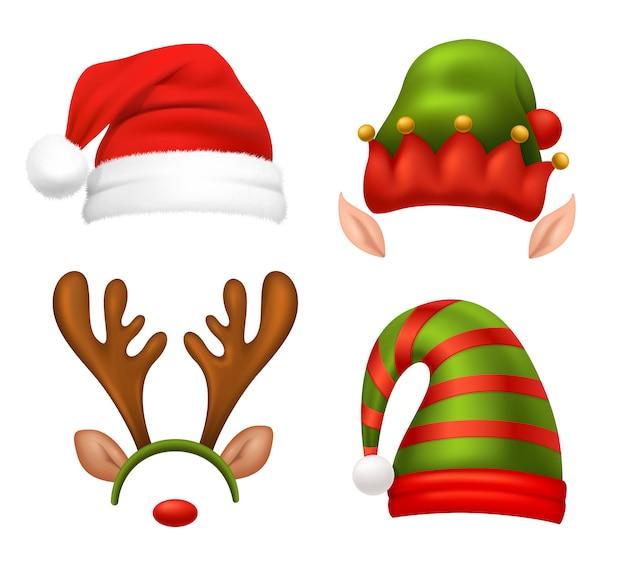 Kerstman hoed set