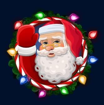 Kerstman illustratie in frame