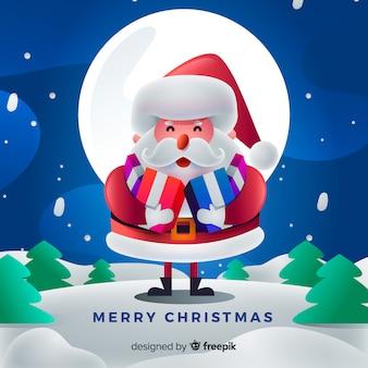Kerstman karakter achtergrond