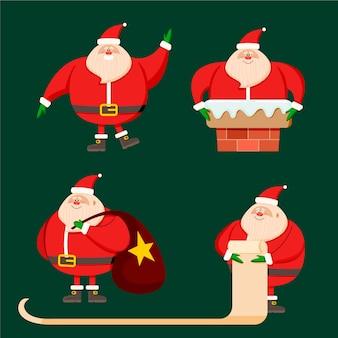 Kerstman karakter collectie hand getekend