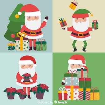 Kerstman karakter collectie hand getrokken stijl