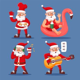 Kerstman karakter illustratie plat ontwerp