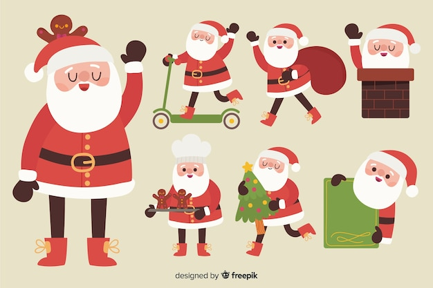 Kerstman karakter pack