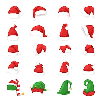 Kerstman kerstmuts illustratie.