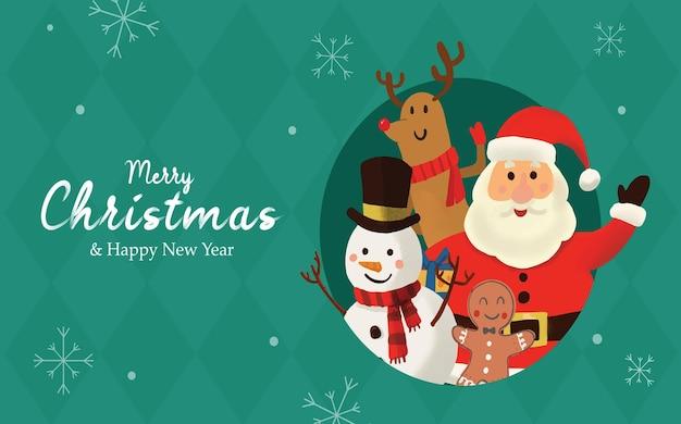 Kerstman merry christmas achtergrond
