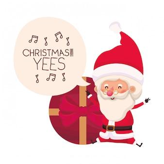 Kerstman met avatar van de giftdoos karakter