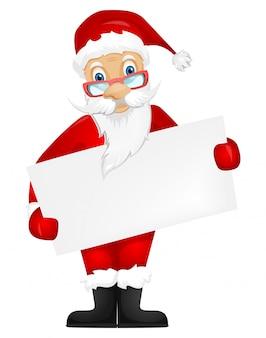 Kerstman met bord