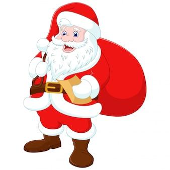 Kerstman met een tas