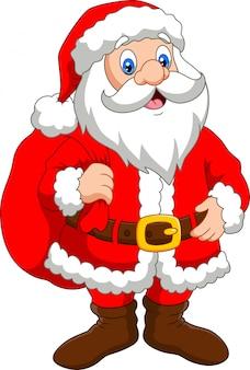 Kerstman met een zak geschenken