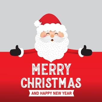 Kerstman met groot bord