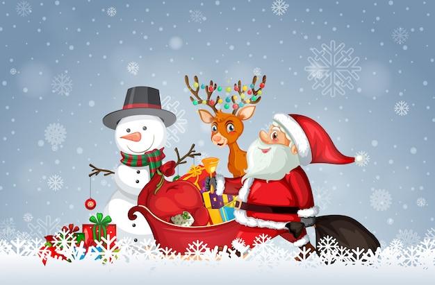 Kerstman met kerst sjabloon