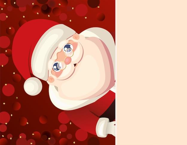 Kerstman met rode achtergrond afbeelding