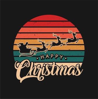 Kerstman met tekst happy chrismas