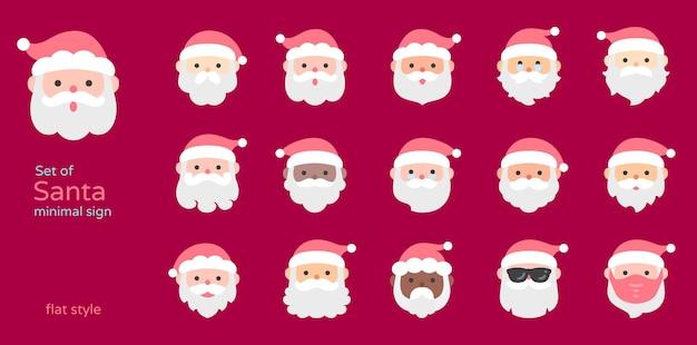 Kerstman platte ontwerp pictogram vectorillustratie.
