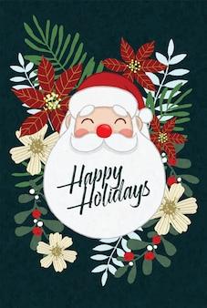 Kerstman prettige feestdagen