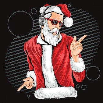 Kerstman santa claus dance nachtfeestje