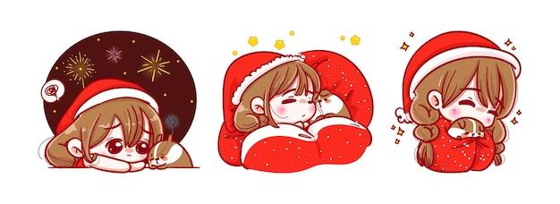 Kerstman slapen en ontspannen
