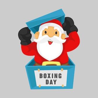 Kerstman tweede kerstdag verkoop platte banners ontwerpsjabloon