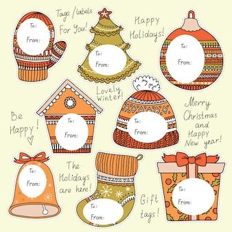 Kerstmarkeringen voor geschenken