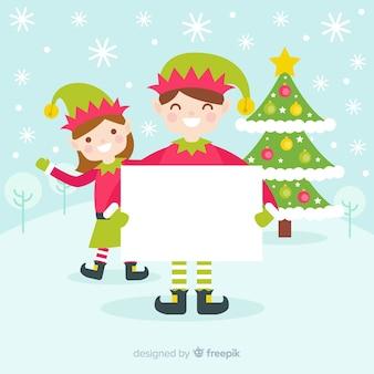 Kerstmis achtergrond golvend elf