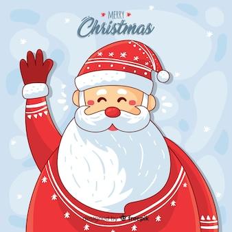 Kerstmis achtergrond hand getrokken