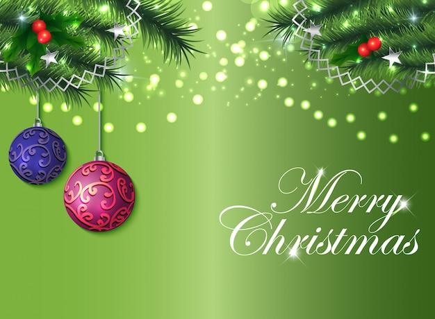Kerstmis achtergrond met groen thema