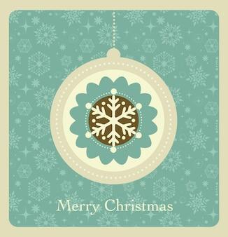 Kerstmis achtergrond met retro patroon,