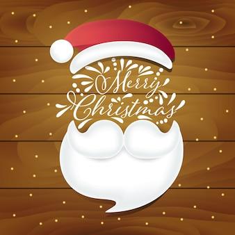 Kerstmis achtergrond met santa karakter