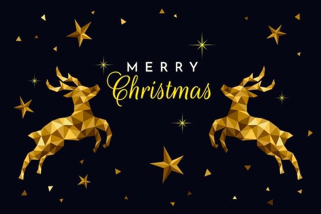 Kerstmis achtergrondconcept in veelhoekige stijl