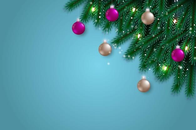 Kerstmis achtergronddecoratie met rode stijlbal